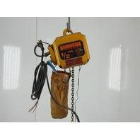 Harrington NER005SD 1/2 Ton 1000# 16' Travel 30/10 FPM Dual Speed Electric Hoist