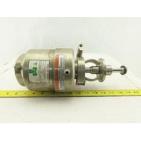 Tri Clover 361-10M-20-1-316 Tri-Flo Air Actuated Sanitary Throttling Valve 2-1/2