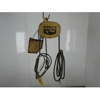Budgit 1/2 Ton Electric Chain Hoist 230V 3 Phase 16FPM 10' Lift