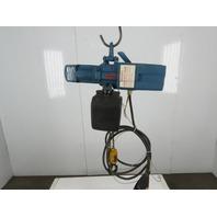 "Demag DKST 2-500 1100LBS Electric Chain Hoist 480V 3 Phase 16FPM 16''6"" Lift"