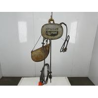 "Budgit 1/4 Ton 16 FPM 9'4""Lift Electric Roller Chain Hoist 115V 1Ph Single Phase"