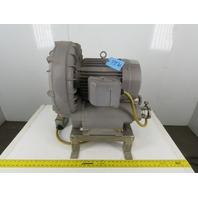 """Fuji VFC800A-7W 10Hp 230/460V 388CFM 135""""/h2o Regenerative Blower Vacuum Pump"""