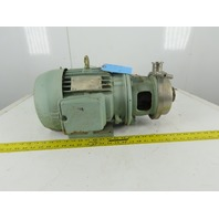 "Creapco 2'x1-1/2"" Stainless Steel Sanitary End Suction Pump 5Hp 230/460 3Ph"
