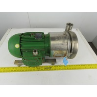 "Tri-Clover C218MD18T-S 3""x2"" Stainless Steel Sanitary Pump 5Hp 208-230/460V 3Ph"