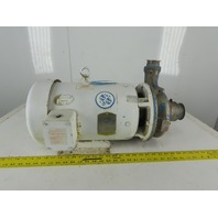 "Baldor 10Hp 3450RPM 208-230/460V Motor Stainless Steel Pump 2-1/2"" x 2"""