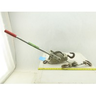 Lug-All 3000-30 1-1/2 Ton 3000# Cable Puller Winch Ratchet Lever Hoist