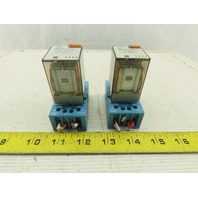 Finder  60.12.8.120.0040 Relay W/Base Lot of 2