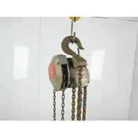 Coffing 4 Ton Chain Fall Hoist 16' Lift 8' Pull Pendant Chain