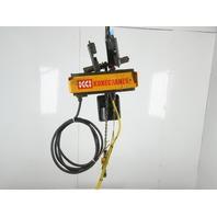 "Konecranes XN050 1/2 Ton 1000Lb. 460V Chain Hoist 12'6"" Lift 16FPM & Trolley"