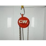 "CM 1/2 Ton 1000Lb. Chain Fall Hoist 8' Lift 6'6"" Pull Chain & Load Limiter"