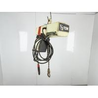Coffing EC-1016-1 1/2 Ton 1000Lb. 115/230V 1Ph Electric Hoist 11' Travel 16FPM