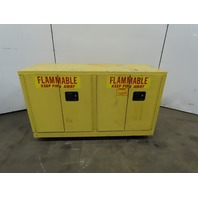 Securall L144 44 Gallon Flammable Safety Storage Cabinet 4 Door Yellow 36x59x22