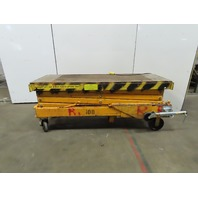 """500Lb Hydraulic Scissor Lift Table  81""""x26-1/2"""" Table 33"""" to 19' Ht Battery"""