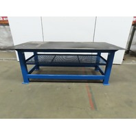 "3/8"" Thick Top Steel Fabrication Layout Welding Table Work Bench 96""x48""x36"""