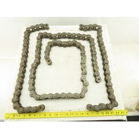 "Diamond X-1470-010 No 100 Single Strand Roller Chain 3 Sections 130"" Total"