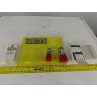Brady 5TA79 Lock Out Tag Out LOTO Station Tags Hasp Locks Organization Board