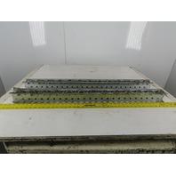 "Mallard 2-3/4"" W x 3"" Tall Pallet Flow Skate Wheel Rail 38-1/2"" OAL Lot Of 2"