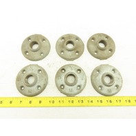 """3/4"""" Galvanized Pipe Flange Lot Of 6"""