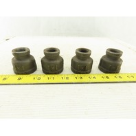 "SA 1"" x 1/2"" NPT Iron Pipe Bell Reducer Lot Of 4"