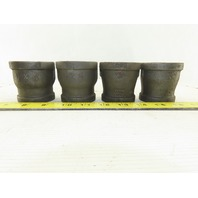 "1-1/2"" x 1-1/4"" NPT Black Iron Pipe Bell Reducer Lot Of 4"