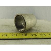 """1-1/2"""" NPT Full Thread Aluminum Pipe Coupling"""