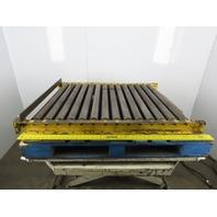 """48"""" X 36"""" Roll Gravity Roller Conveyor 33"""" Between 2-1/2"""" Rollers"""