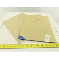"12-5/8"" x 10-3/4"" x 1/8"" Thick Semi Transparent Cobalt Blue Acrylic Sheet Lot/3"