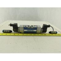 "Festo MFH-5/3G-1/4B Pneumatic Solenoid Valve 2VDC 1/4"" NPT"