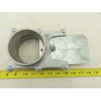 """4"""" Vacuum Dust Collector Blast/Slide Gate Cut Off Cast Aluminum"""