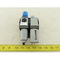 "Festo FRC-M1-N1/8 & LOE-M1-N1/8-P Pneumatic Filter Regulator Lubricator 1/8"" NPT"
