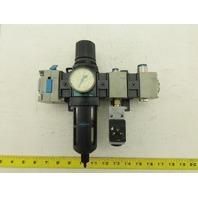 """Wilkerson Filter Regulator Assembly 0-125PSI 1/2"""" NPT PEV-1/4-B"""