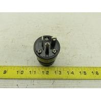Woodhead 1433BLK Super Safeway  Industrial Straight Blade 20A 125V Cord Plug