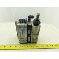 Festo VMPA-KMS2-24-5-PUR Pneumatic Logic With 4 Solenoid Valves