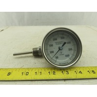 "Trend Instruments CR3207B 50-400°F Dial Temperature Gauge 3/8"" NPT"