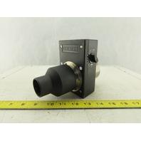 "Leister Manual Air Flow Control CFM Blower Regulator 2-1/2"" Od"