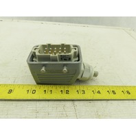 Weidmuller HDC-HE-10SS 10 Pin Male Plug 500/6kV/3 W/1787550000 Housing