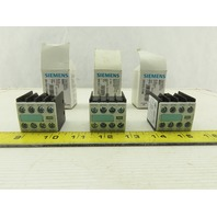Siemens 3RH1911-1FA40 10A 240V Auxiliary Contact Block Lot Of 3 New