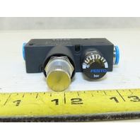 Festo LRMA-QS-8 8mm Tube Inline Air Pressure Regulator