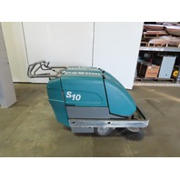 "Tennant S10 Industrial Battery Walk Behind Floor Sweeper 60Hrs 34"" Wide Path"