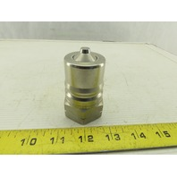 "Parker SH8-63 1-1/2"" NPT Stainless Steel Quick Coupling Series 60"