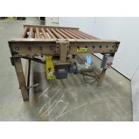 "Power Roller Case Pallet Conveyor 50""BF x 54""L x 33-1/2""H 230/460V 3Ph 26FPM"