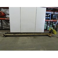 "195"" OAL Incline Cleated Chip Conveyor 12"" Belt  4FPM 208- 230/460V 3Ph"