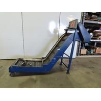 "Jorgenson Incline Chip Conveyor 18FPM 36""x24"" Intake 55"" Discharge 230-460V 3Ph"