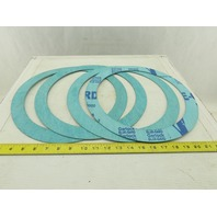 "Garlock Blue Gard 10"" Pipe Flange Gasket Ring 13-3/8 OD Lot Of 4"