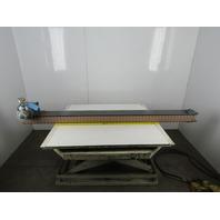 "Pneumatic Air Powered Plastic Chain Conveyor 3-1/4""x 84"""