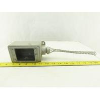 """O-Z/Gedney FS-1-76 Iron Device Box Single Gang W/3/4"""" Strain Relief"""