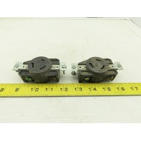 Arrow-Hart NEMA L8-20 Twist Lock Locking Female Receptacle 480V 20A lot of 2