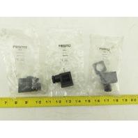 Festo PEV 694436 Solenoid Plug Connector Lot Of 3