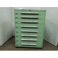 "Industrial 8 Drawer Small Parts Tooling Storage Cabinet 45""W x 27-3/4""D x 61""T"