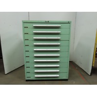 "Industrial 10 Drawer Small Parts Tooling Storage Cabinet 45""W x 27-3/4""D x 61""T"